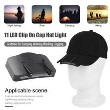 11 LED Clip on Cap Hat Light Camping Walking Working Jogging Cap New