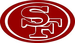 """San Francisco 49ers Decal """"Sticker"""" for Car or Truck or Laptop"""