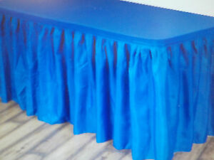 2x AmscanTableskirt 29 in x 14 ft w/adhesive strip Party/Wedding/Tradeshow Blue