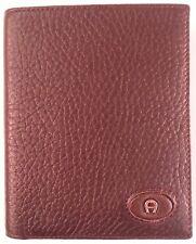 Aigner Herren Geldbörse Portemonnaie dunkel braun aus Elchleder hochgestellt