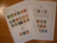 France: 2 pages avec timbres classiques. Enorme cote.