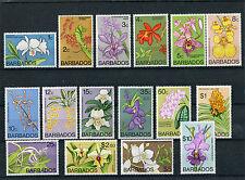 Barbados 1974 Serie ordinaria fiori Yvert 373 - 88 MNH