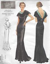 1934 Vintage VOGUE Patron de Couture B40-42-44 ROBE (R949)