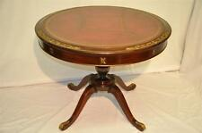 Regency Style Leather Top Mahogany Center Table Original Leather Top, c. 1910's