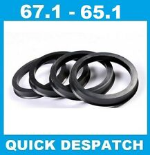 4 X 67.1 - 65.1 ALLOY WHEEL LOCATING HUB SPIGOT RINGS FIT  PEUGEOT 407