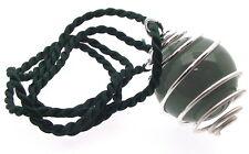 Green Aventurine Crystal Gemstone Sphere Spiral Pendant