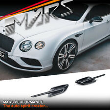 Gloss Black Side Fender Guard Vents for Bentley Continental GT 3W 16-18
