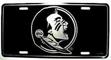 Florida State Seminoles Elite License Plate NCAA Official NEW Black Mirror FSU