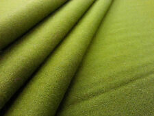 WOOL BLEND MELTON GREEN TEX EX 1446 DRESSMAKING CURTAIN FABRIC ARMY PLAIN