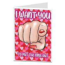 Funny Alternative Valentines Card For Him Husband Boyfriend Bins Out Joke