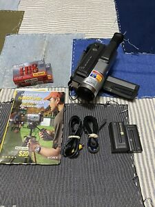 Sony Handycam CCD-TRV68 8mm Hi8 Camcorder Camera And Accessories Tested Works