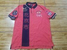 La Martina Beijing China Maserati Mens Polo Shirt Slim Fit Red Size XL