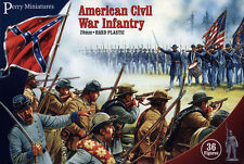 Plástico Infantería American Civil War-Figuras De 28mm x36 ACW1-Libre Post Perry