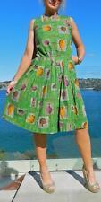 VINTAGE Rockabilly 1950s Original RARE Nostalgia Garden Party Swing Pinup Dress