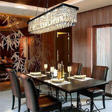 "40"" Rectangle Crystal Pendant Light Ceiling Lamp Dining Room Chandelier Lighting"