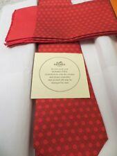 Hermès cravate en soie 5118 HA & Poche Carré NEUF sans étiquette avec un géométrique H Pattern