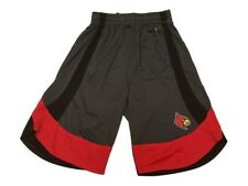 Louisville Cardinals Colosseum YOUTH Boys Gray & Red Athletic Shorts 16/18 (L)