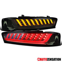 For 2016 2017 2018 Chevy Camaro Smoke Tail Lights Sequential LED Signal Lamps