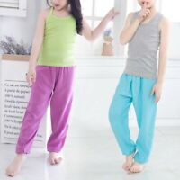 Baby Kid Boys Girls Summer Thin Trousers Child Casual Cotton Cool Long Pants