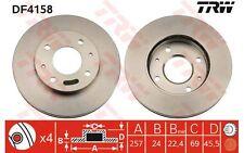 TRW Juego de 2 discos freno Antes 257mm ventilado HYUNDAI COUPE SONATA DF4158