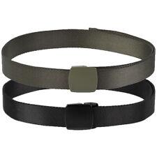 Mil-Tec Elasticated Webbing Belt Mens Military Army Duty Work Police Security