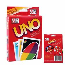 UK Standard Fun Uno Card Game 108 Playing Cards playing Family Children Friends