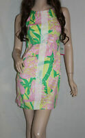 NWT! LILLY PULITZER for Target Womens Fans Dance Shift Mini Dress Flamingo 4