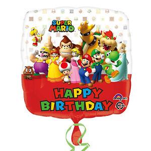 """SUPER MARIO HAPPY BIRTHDAY FOIL BALLOON - S60 SQUARE 18"""""""