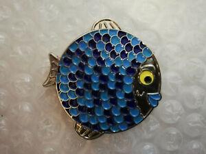 geocoin geocaching trackable - Fisch blau