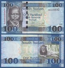 Sur de sudán/southsudan 100 pounds 2015 UNC p. (10b) New