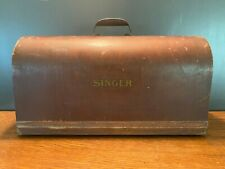 Vintage Singer Sewing Machine Bent Wood Cover Case Lid with Handle