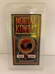 Mortal Kombat Commemorative Metal Slammer 1992 Trophy Edition 18k Gold Plated