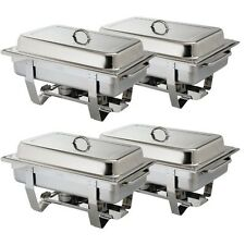 PACK OF 4 OLYMPIA STAINLESS STEEL CHAFING DISH SETS ***FREE NEXT DAY DELIVERY***
