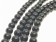 Onyx Obsidian 8mm Round Black Beads Protective Negativity Jewellery Making DIY