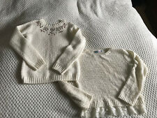 2x girls jumpers 7-8 years