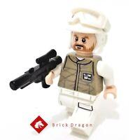 LEGO Star Wars Hoth Rebel Trooper Dark Tan Uniform / brown beard from set 75098
