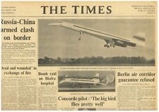 Concorde First Flight Aviation Toulouse Andre Edouard Turcat Pilot March 3 1969
