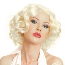 FR Perruque Blonde court ondulé séduisant cheveux Cosplay Naturelles Femme Fancy