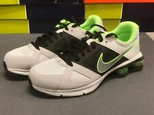 Mens Nike Shox NZ 2013 Premium Sneakers New Gray / Volt Green 599465-011 sku AA