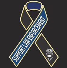 """Support Law Enforcement 8"""" Car Truck decal sticker Blue Lives Matter"""