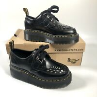 Dr MARTENS SIDNEY Black Creeper Quad Double Sole Platform Shoes, UK 5 EU 38 US 7