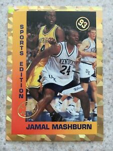 Rare 1993 Jamal Mashburn U Kentucky Sports Edition Promo Basketball Card Rookie