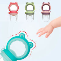 New Toddlers Baby Teether Vegetable Fruit Teething Toy Ring Chewable Soother US