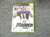 Madden 2002 (Microsoft Xbox) Game  - comes with cover art, manual, case and game