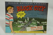 Block City Master Builder's Catalog Brick Town 1950s Pre-School Building Blocks