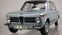 Kyosho Dealer Edition Ed 1:18 1973 BMW 2002 Tii Silver Metallic Detailed Car Toy