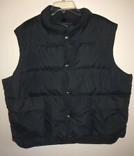 New listing Vintage Woolrich Charcoal Down Puffer Vest-Size Xl- Made In Usa