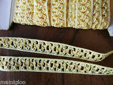 MERCERIE galon gance dentelle jaune  1.mx15 mm@RUBBON lace