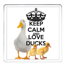 KEEP CALM AND LOVE DUCKS - coaster drinks table at can be personalised