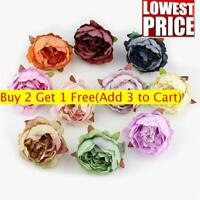 Artificial Peony Floral Flower Heads Fake Bouquet Wedding Birthday Party Decor